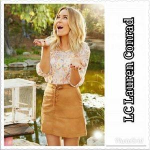 Lauren Conrad faux suede mini skirt